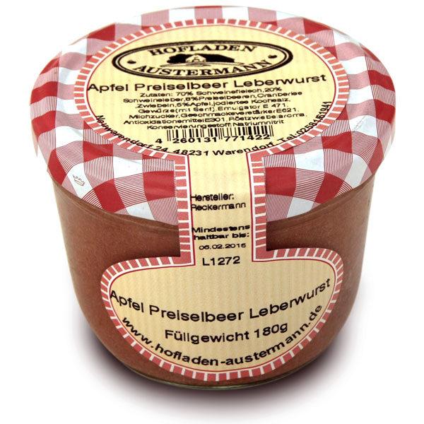 Apfel Preiselbeer Leberwurst