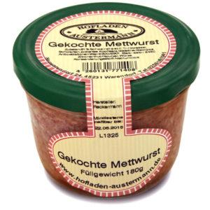 Gekochte Mettwurst, 180g, Hofladen Austermann