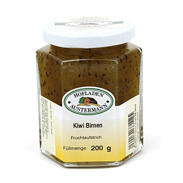 Kiwi-Birnen Fruchtaufstich 200g, Hofladen Austermann