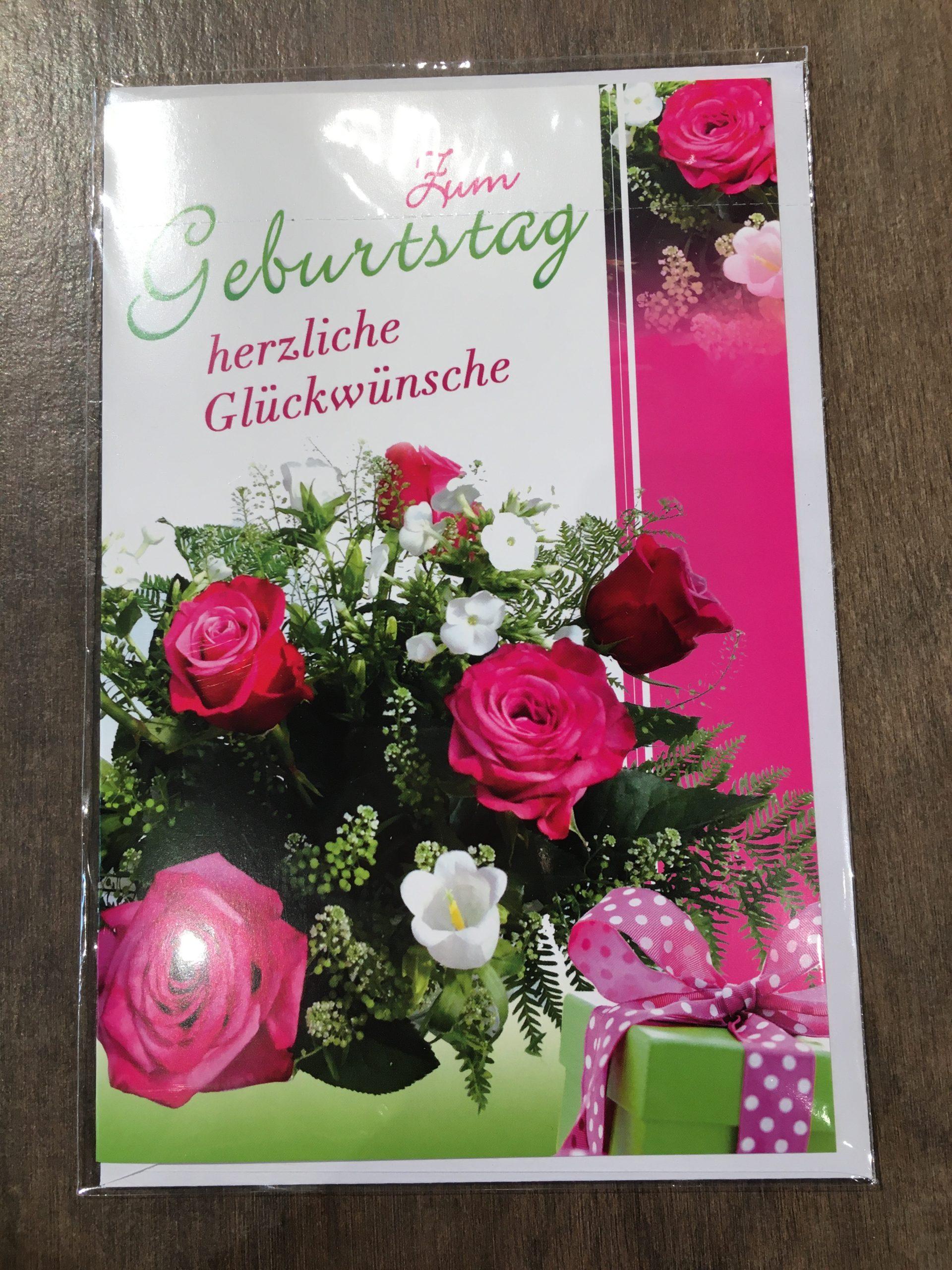 """Grußkarte """"Zum Geburtstag herzliche Glückwünsche"""